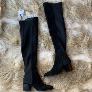 ZARA OVER THE KNEE SUEDE BOOTS BNW/TAG RARE